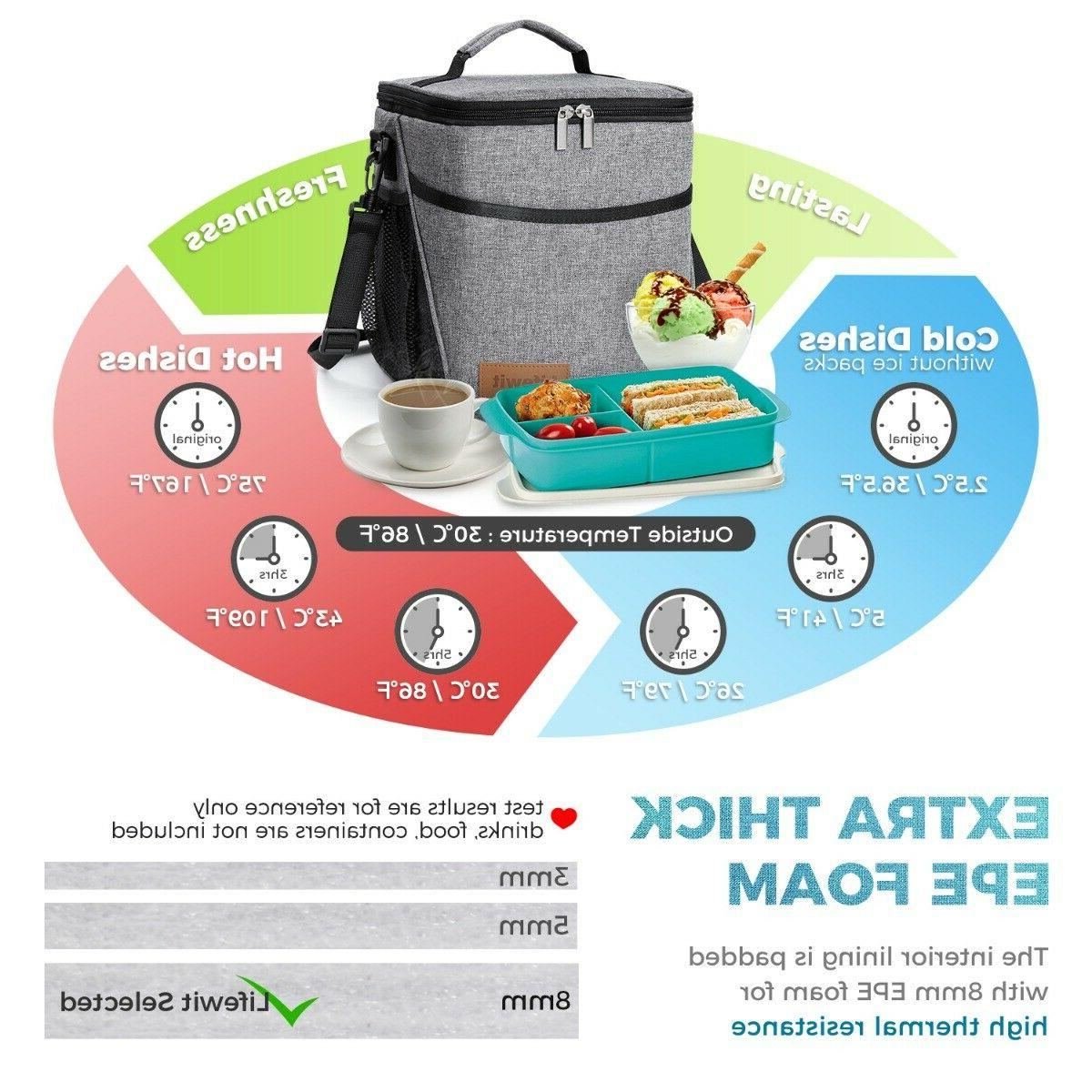 9L Bag For Women Thermos Cooler Food Lunch Box