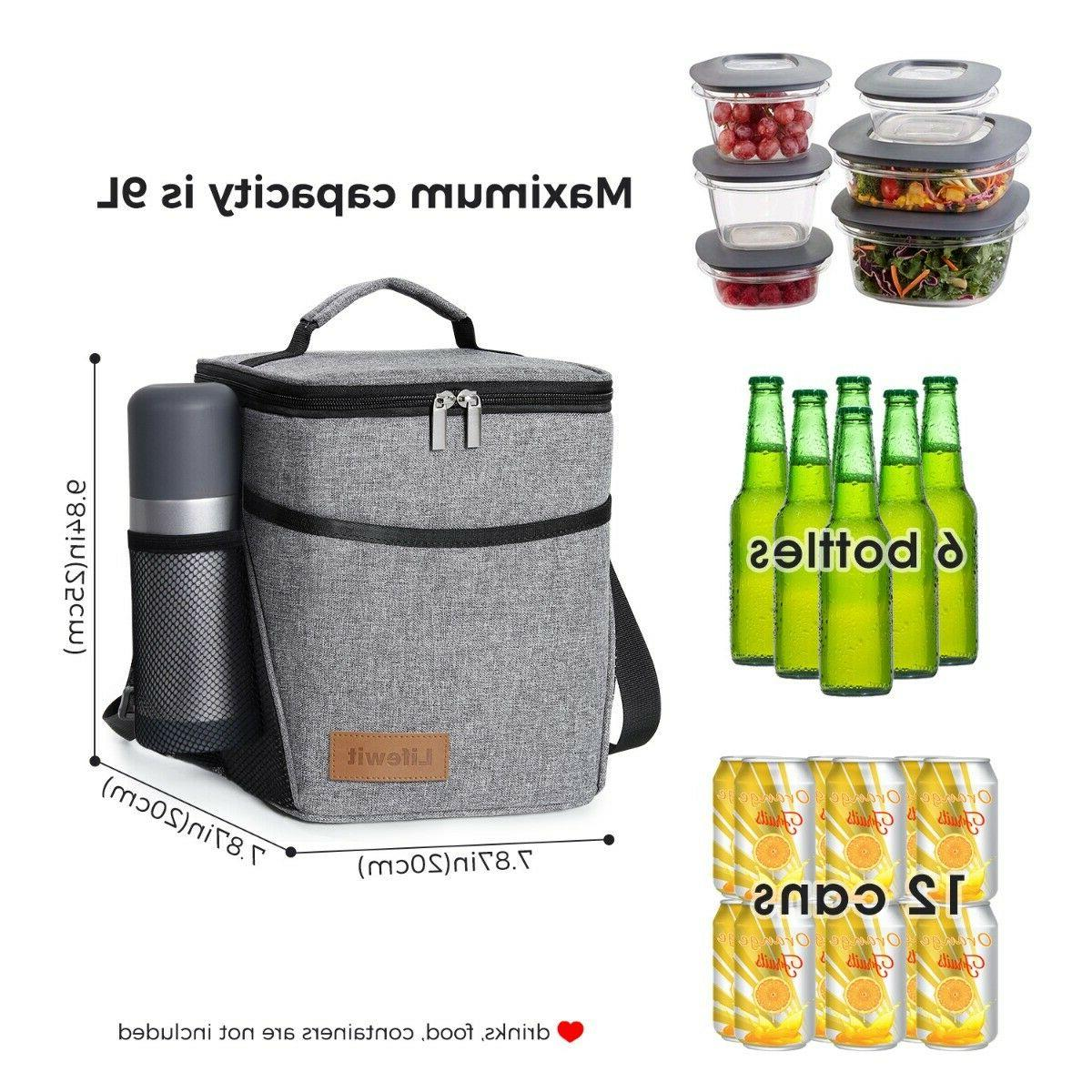 9L Insulated For Women Cooler Tote Lunch