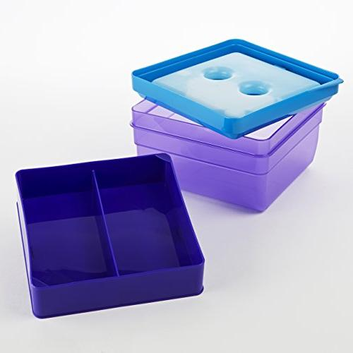 Fit Fresh Divided Lunch Food for and with Box, Freezer/Microwave/Dishwasher Safe
