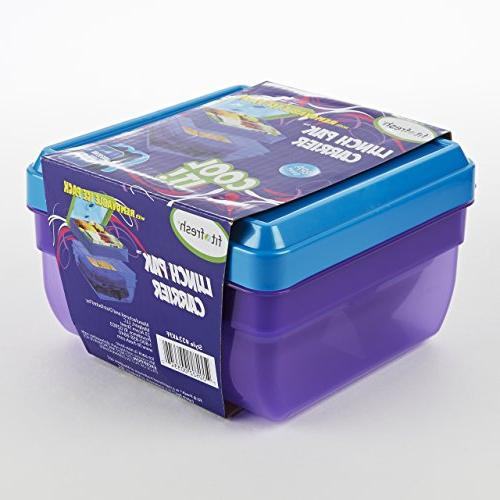 Fit Fresh Lunch Pack Food Container for and Snack Ice BPA-Free Lunch Box,
