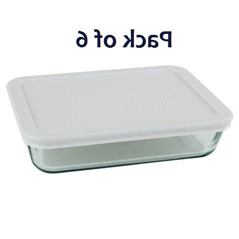 Pyrex 3-cup Food Containers With White Lunch Box, Storage ,And Dish )