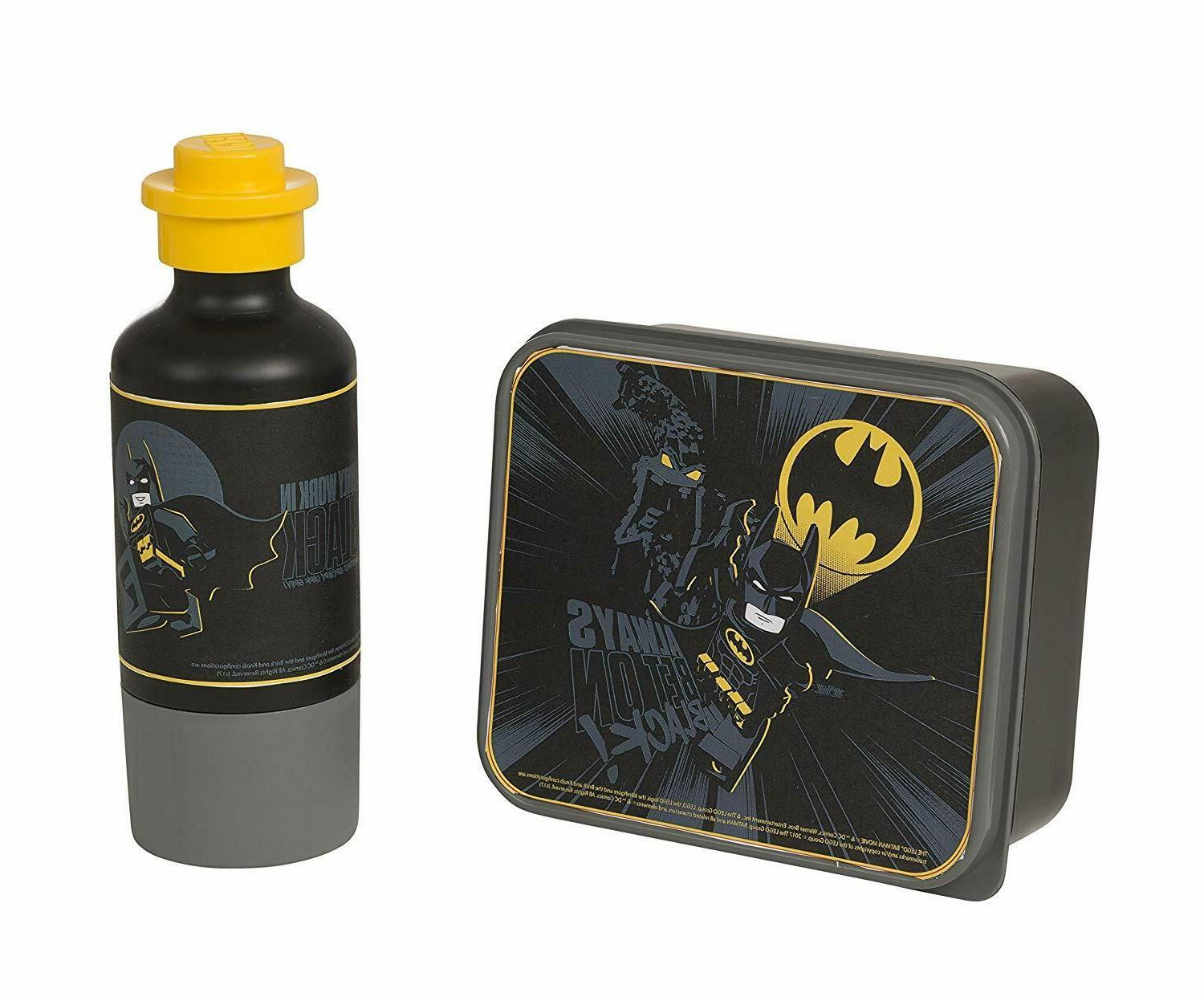 batman lunch set lunch box and drinking