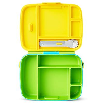Munchkin Bento Box Toddler Lunch Box, Green