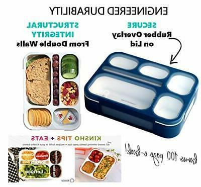 Bento-Box with Bag and Ice Pack Lunch Boxes Snack Kids Boys