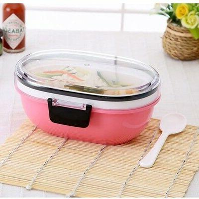 Bento Lunch Box With Spoon Tableware Dinner Set Safe Microwa