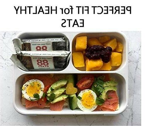BPA-Free ORANGE Portable Lunch Box Dishwasher Safe