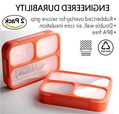 BPA-Free ORANGE Portable Lunch Microwave & Dishwasher -