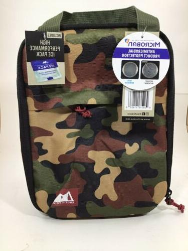 camo insulated lunch bag new with tags