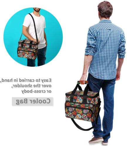 ALAZA Colorful and Roses Bag Insulated Box Soft