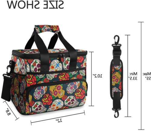 ALAZA Colorful Sugar Skulls and Bag Soft