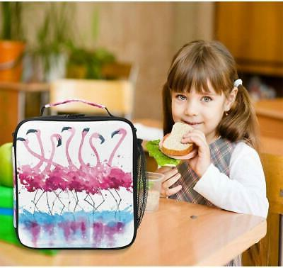 ALAZA Pink Flamingos Painting Insulated Lunch