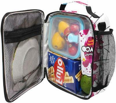 ALAZA Cooler Lunch Box Pink Flamingos Insulated