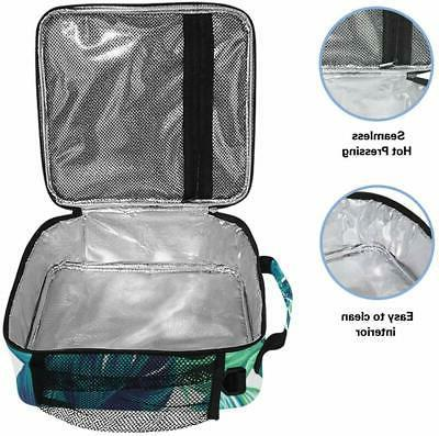ALAZA Cooler Watercolor Tropical Leaves Insulated