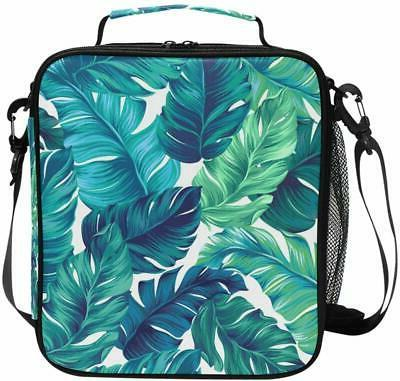cooler lunch box watercolor turquoise green tropical