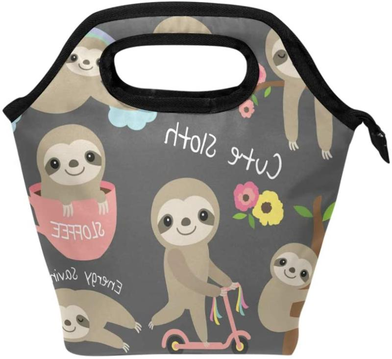 cute sloth lunch box for kids girls