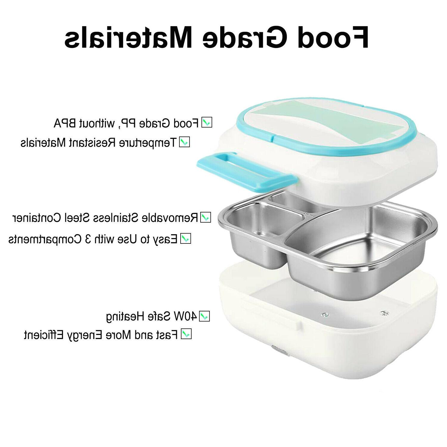 Electric Lunch Box Warmer Portable Heating Storage