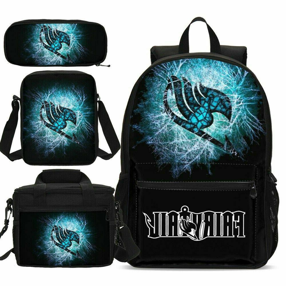 fairy tail printed kids schoolbag cooler lunch