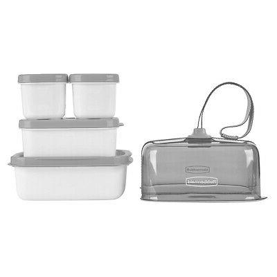 Rubbermaid Fasten Lunch Lunch Kit Food Containers Tote
