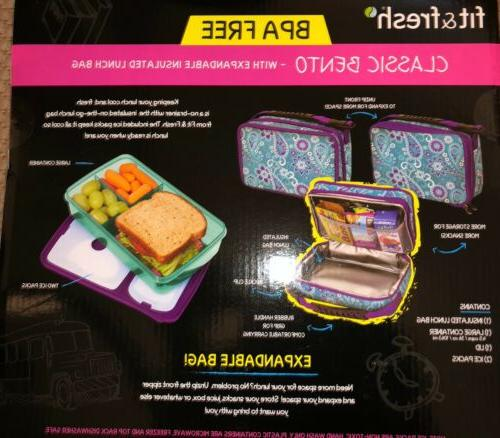 Fit Insulated Lunch Box Ice Packs Multi Avail.