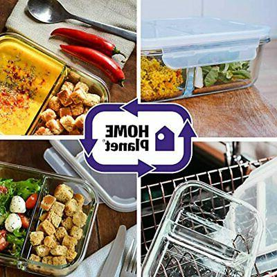 - Glass Meal Containers 2 3 Oz 97% Lids