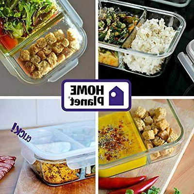 - Containers Lunchbox 3 Pack 36 Oz 97% Less Lids