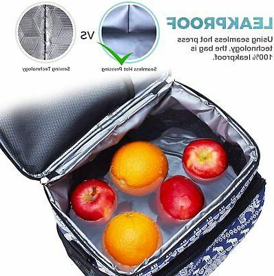 Insulated Cooler Picnic Beach Hiking Lunch Box Shoulder