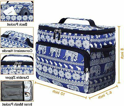 Insulated Bag Beach Hiking Lunch Box Shoulder