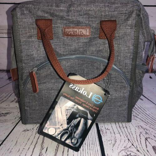 insulated cooler ice bag lunch bag wide