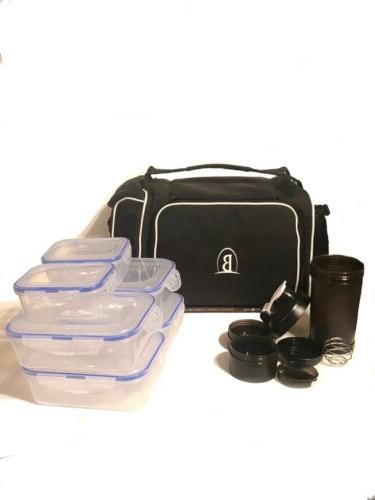 Meal Prep Lunch - Insulated Fit Cooler Box - Portable or Cold