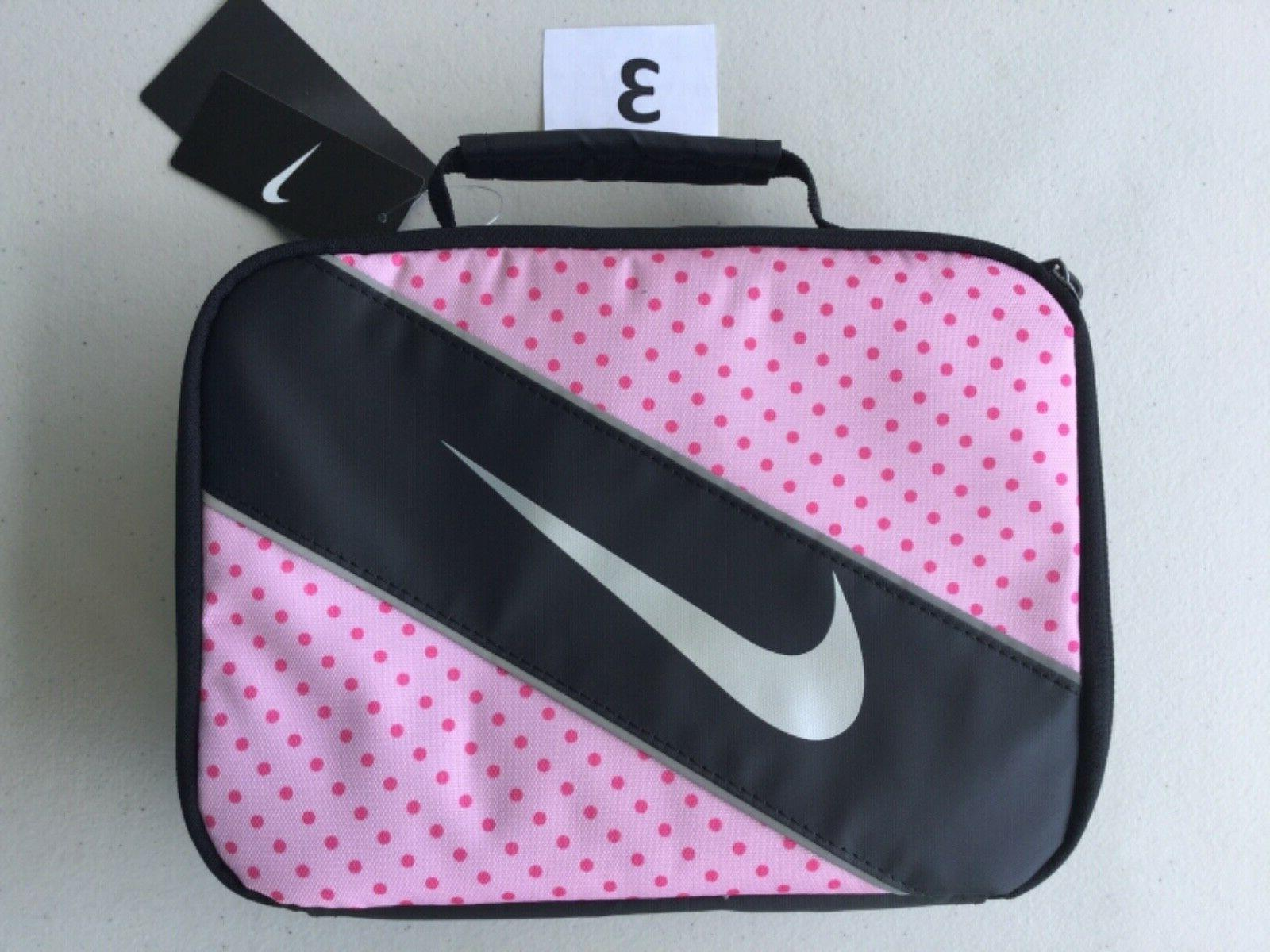 Nike Insulated Lunch Box Tote Black Pink Multi Color New Wit