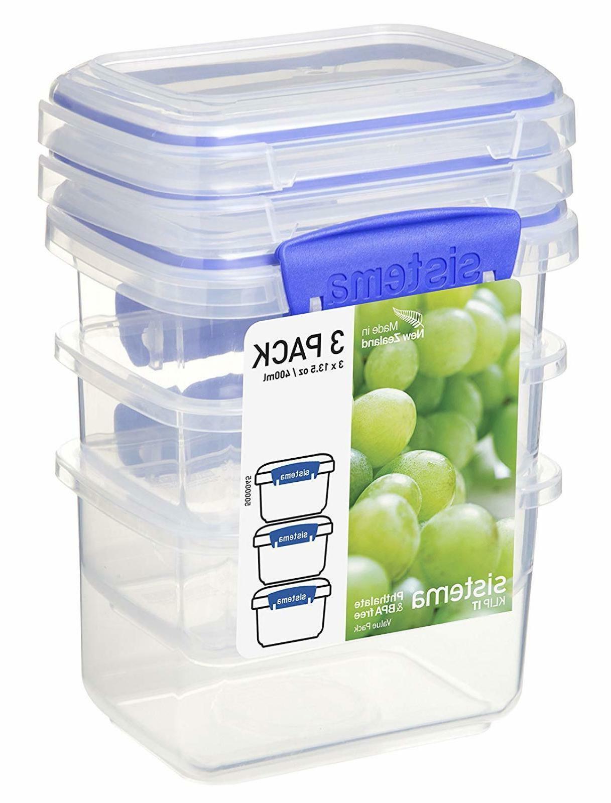 Sistema KLIP IT Food Storage Container Lunch Box 400ml Pack