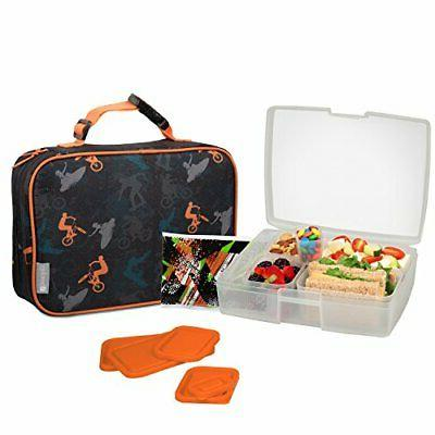 lunch bag and box set for boys