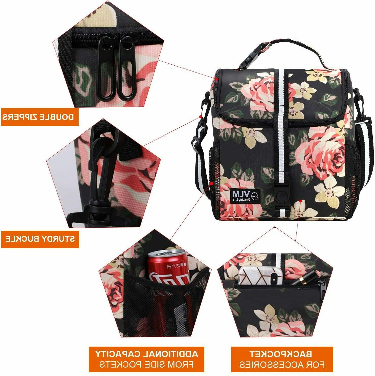 Lunch Women Adjustable Water Insulated Box