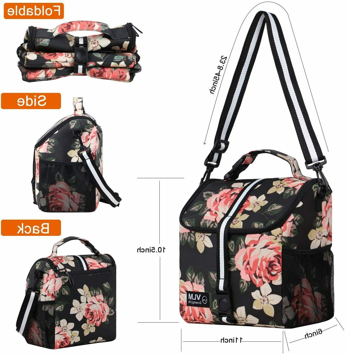 Lunch Bag for Adjustable Shoulder Insulated Box