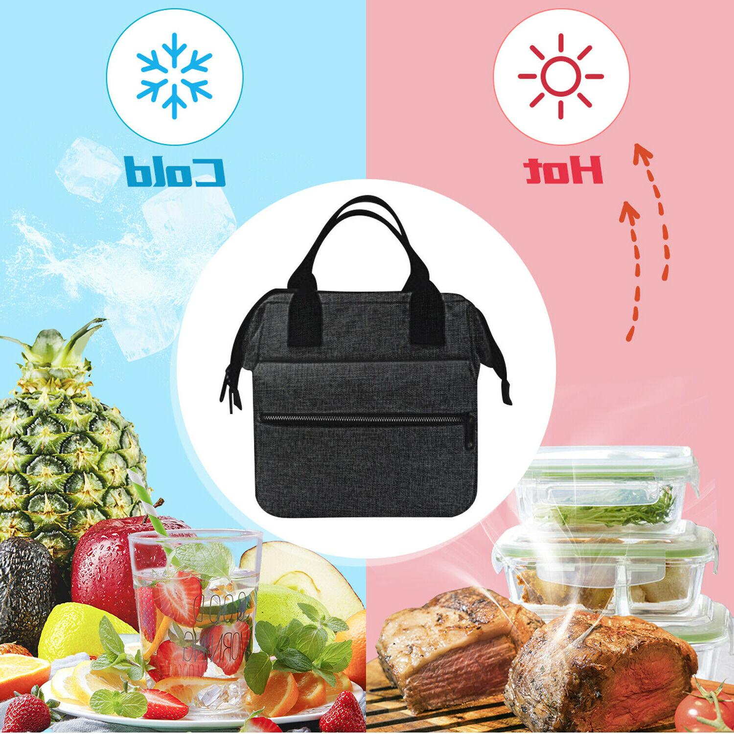 Insulated Lunch Men Adults Tote Leakproof Box