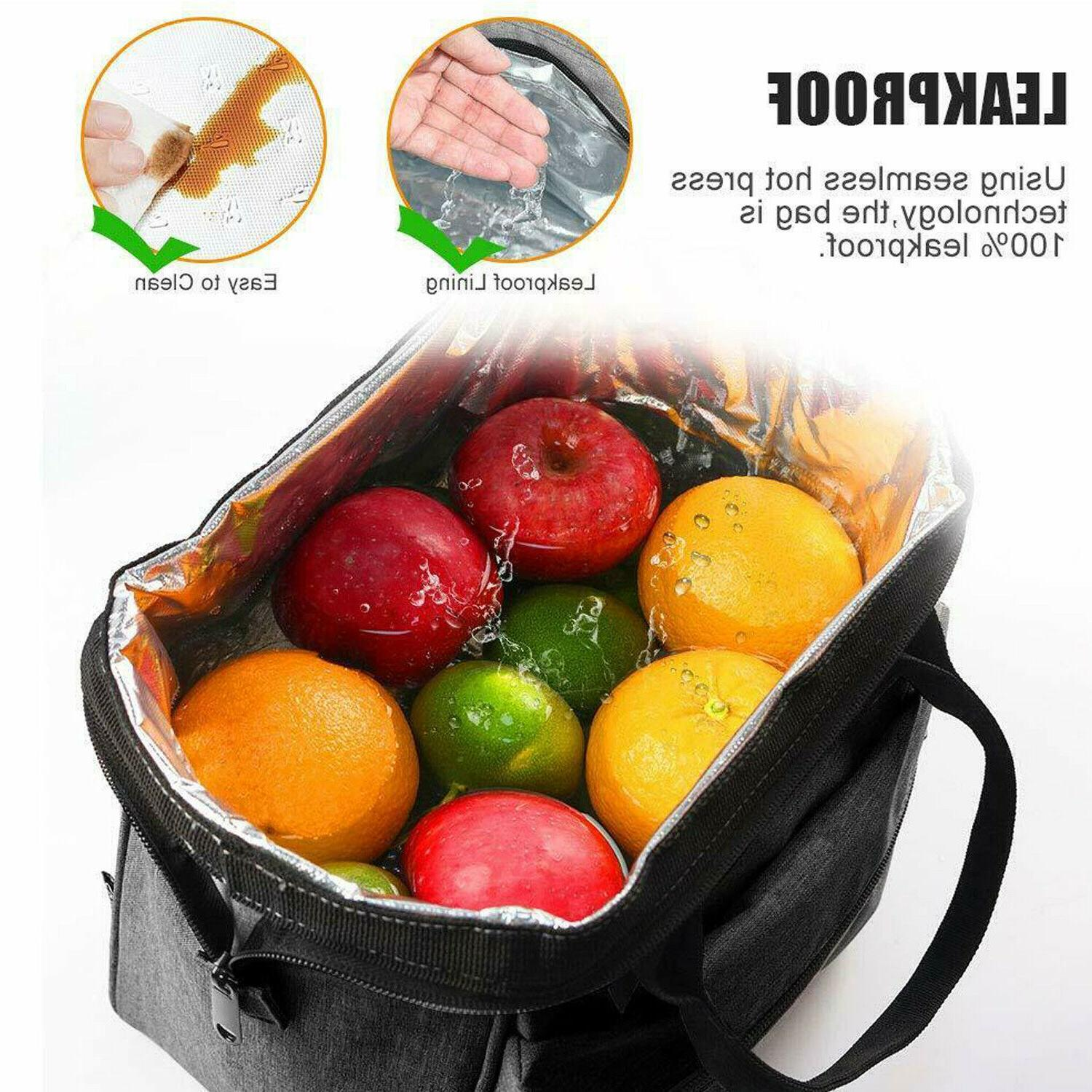 Insulated Lunch Bag Men Adults Leakproof Lunch Box