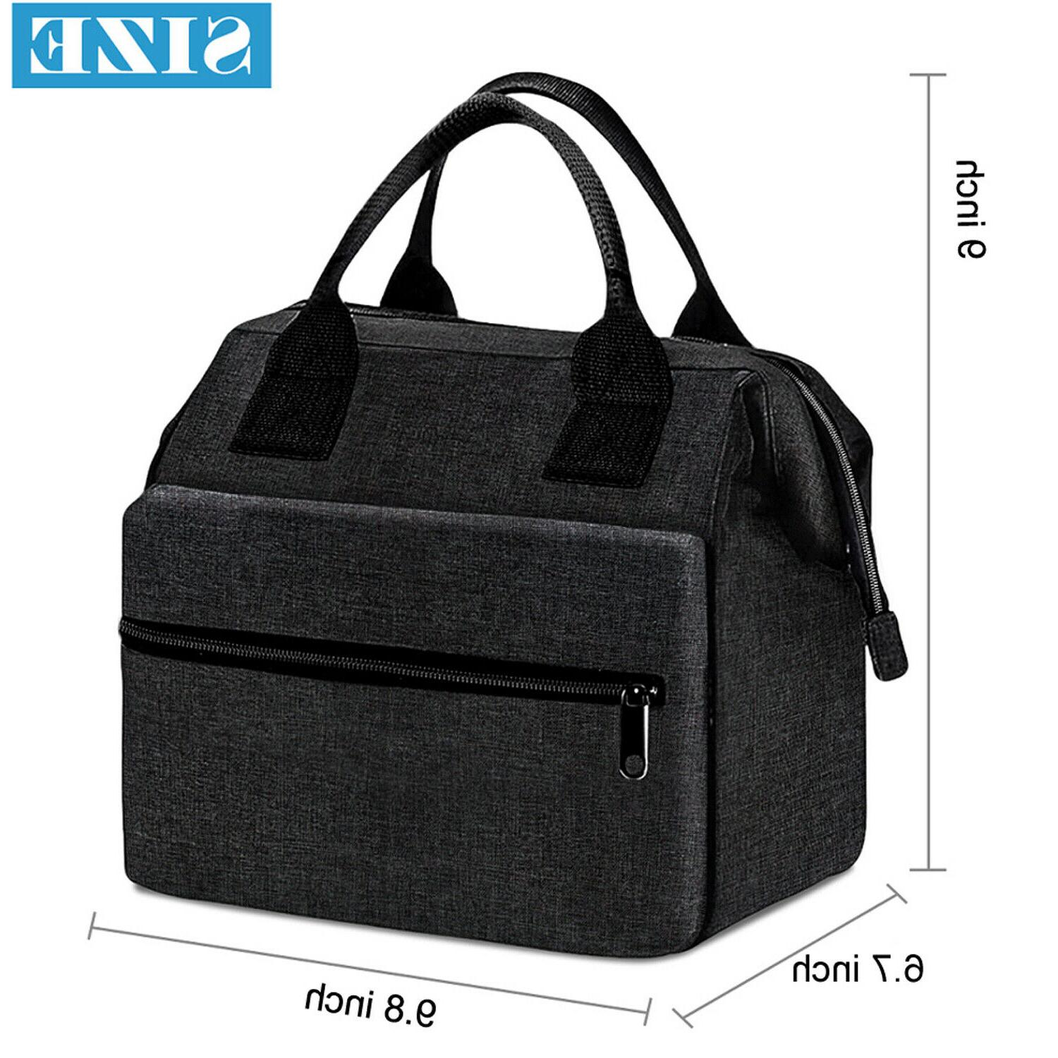 Insulated Men Adults Tote Lunch Box