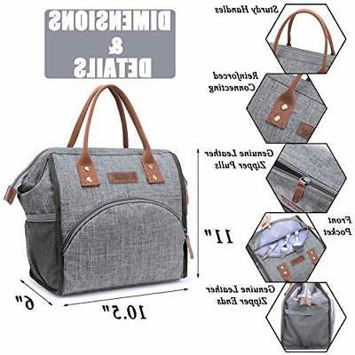 Lunch Bag Box Wide-Open Bag Large Drinks Dura