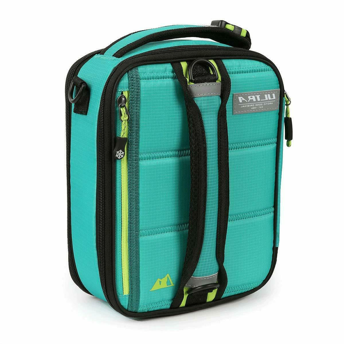 Arctic Zone Ultra Expandable Lunch Box TEAL/GREEN NWT