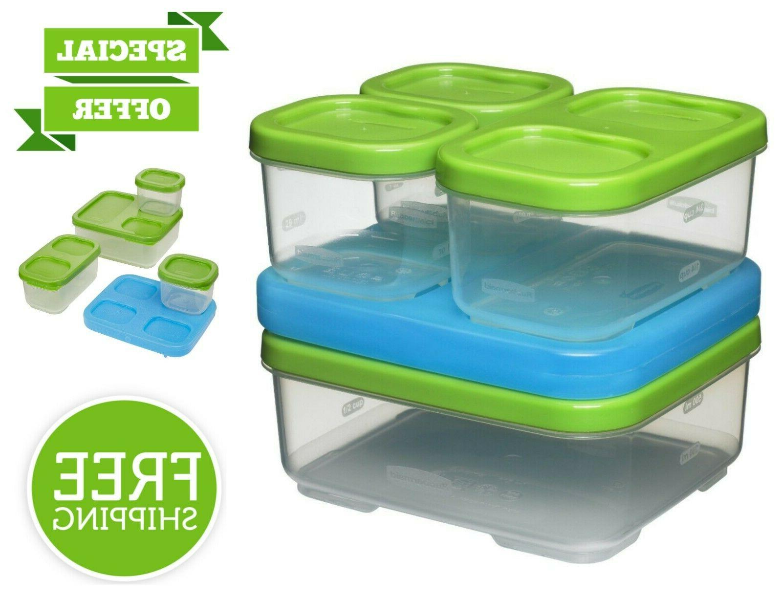 Rubbermaid LunchBlox Sandwich Kit Durable Lunch Box Food Con