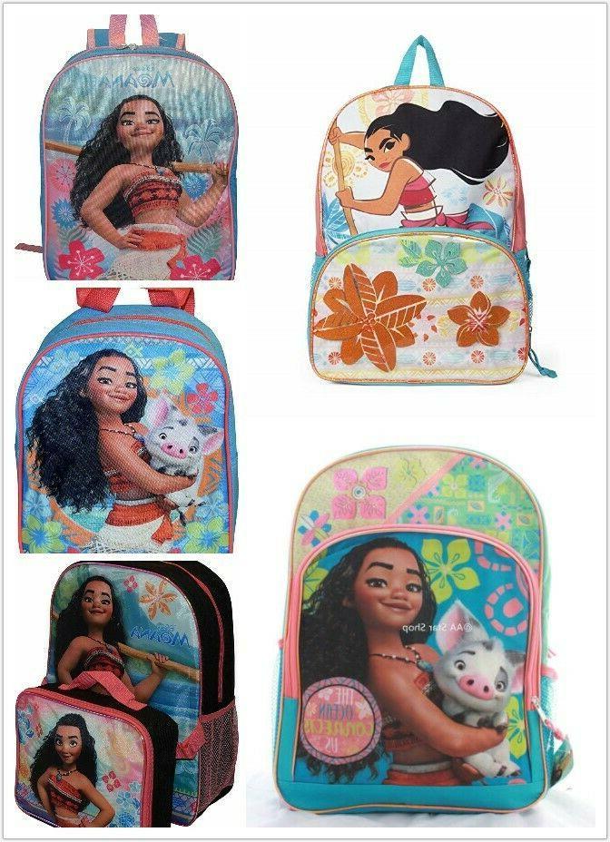moana school backpack bookbag lunch box set