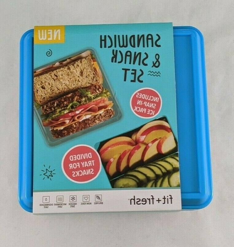 New Sandwich Snack With Ice Pack Tray 4