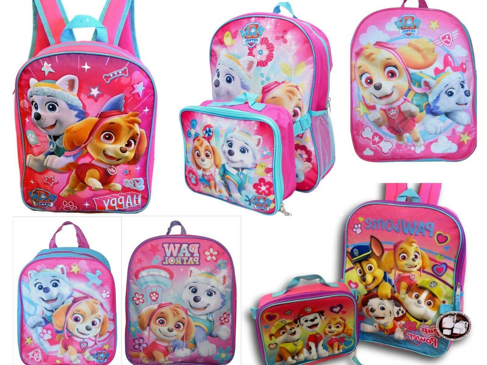 paw patrol girls school backpack book bag