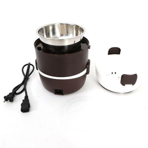 2L 3 Lunch Box Rice Cooker Stainless Pot USA