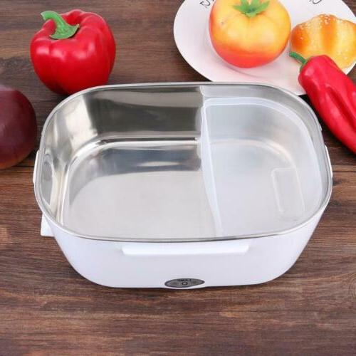 Portable Heating Lunch Box Steel Food Container