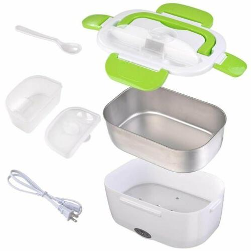Portable Electric Heating Lunch Bento Travel Food Warmer 110V