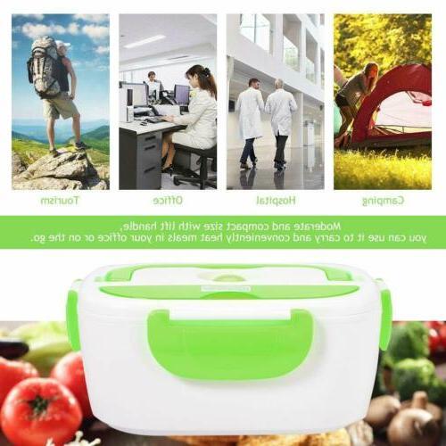 Portable US Plug Heating Lunch Box Bento Travel 110V