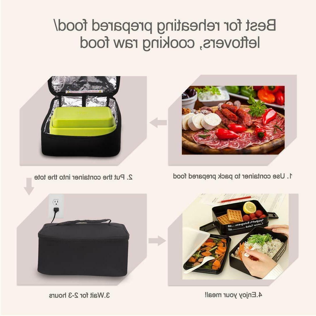 Portable Food Heater Box Mini Oven Car 110V Office
