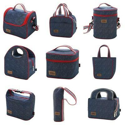 US Adult Lunch Box Insulated Lunch Bags Large Cooler Tote Ba