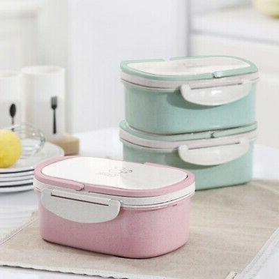 Thermal Insulated Lunch Box Bento Food Container Case Portab